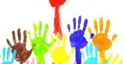 handprints  multicolor