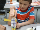 Paper puppets come to life in the classroom.