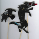 Shadow puppets are easy to construct and can be great story tellers.