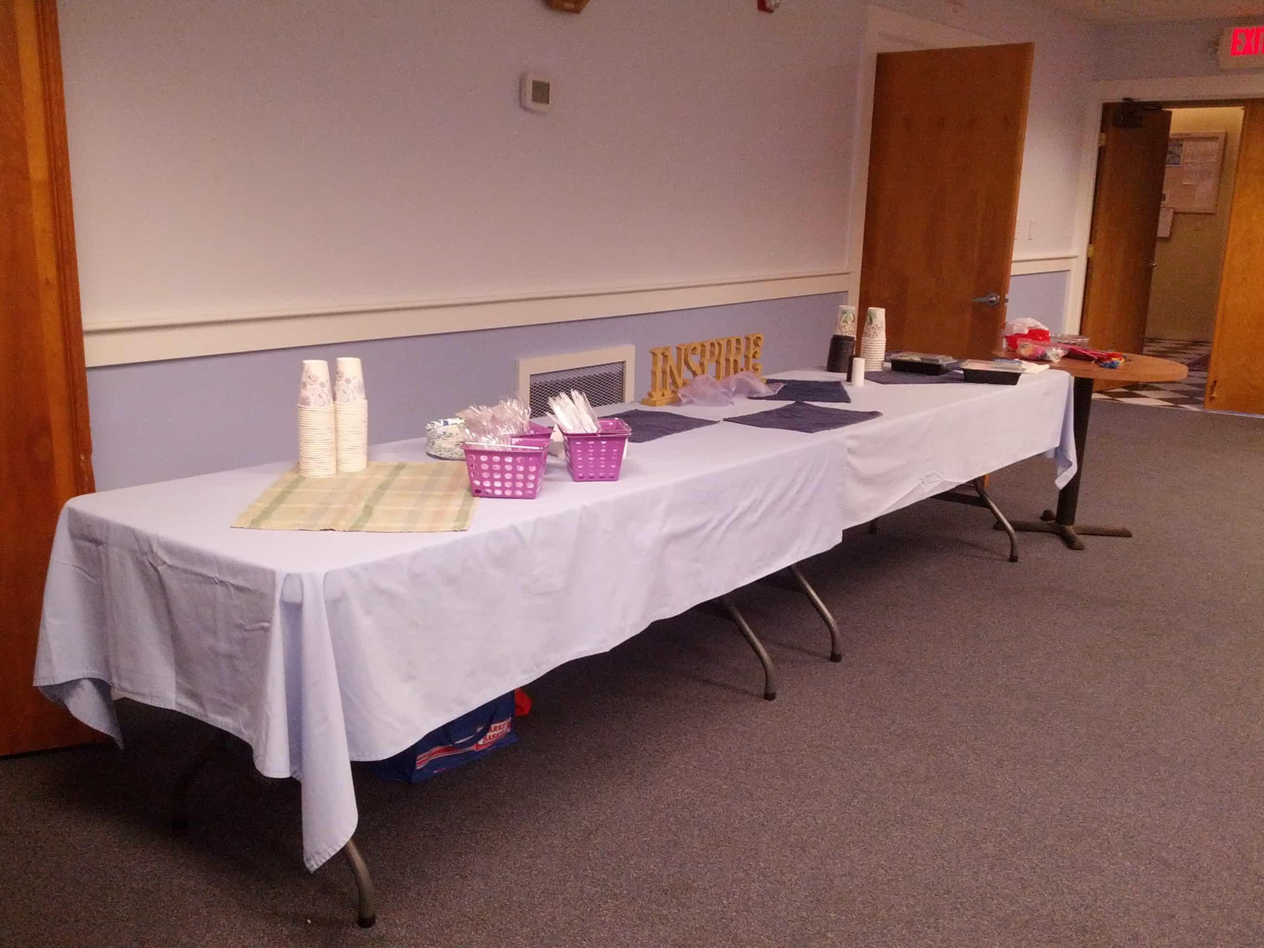 lodge food table