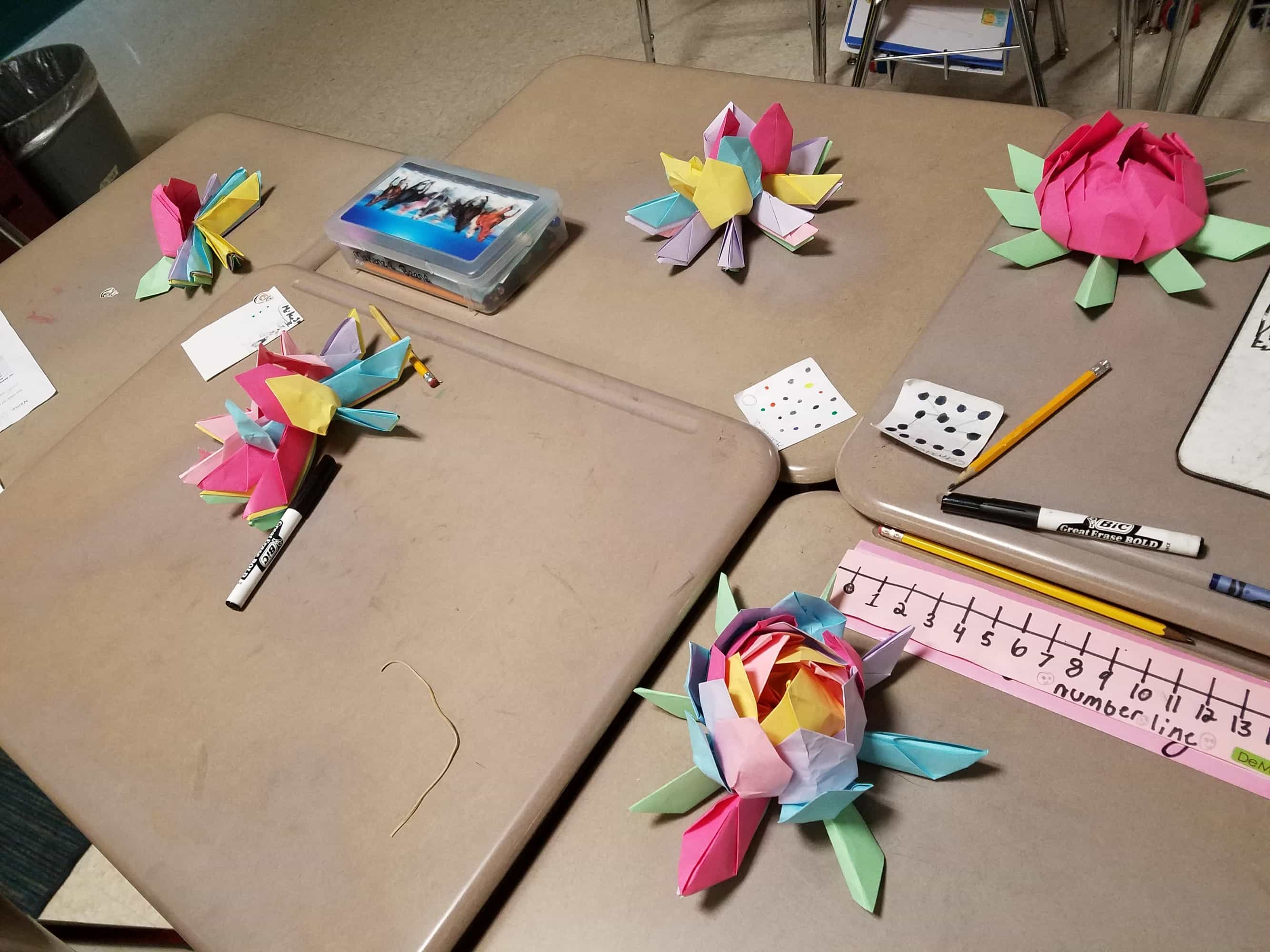 Sharing Friendly Fridays Making Origami Lotus Flowers The