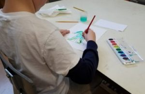 Creating artwork during a SEAL Lesson